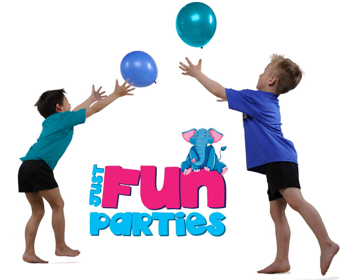 children tossing balloons party game outdoor party entertainment