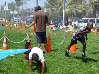 obstacle course school sports day outdoor party entertainment