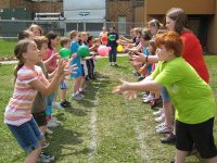 water ball toss birthday party games outdoor party entertainment