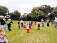 outdoor party entertainment - sack races - kids birthday parties